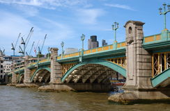 River Thames, London Southwark bridge Stock Image
