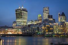 River Thames London UK. River Thames, with office blocks close to London Bridge Royalty Free Stock Photos