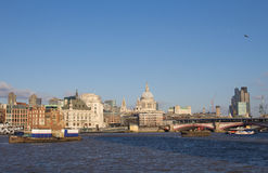 The river Thames in London Stock Image
