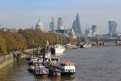 River Thames. Look at the river Thames from a bridge Royalty Free Stock Images