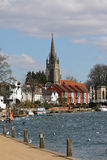 The River Thames at Marlow in England royalty free stock images