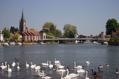 River Thames at Marlow England Royalty Free Stock Photo