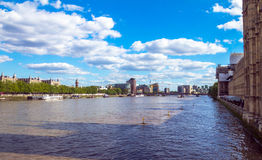 River Thames near Palace of Westminster, Houses of Parliament. UNESCO World Heritage Site. Palace of Westminster fragment (known as Houses of Parliament) located Royalty Free Stock Photos