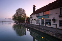River Thames in Oxford. Pub at Sandford-on-Thames in Oxford Stock Images