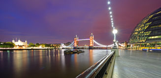 River Thames panorama Royalty Free Stock Images