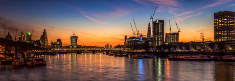River Thames panorama Stock Photography