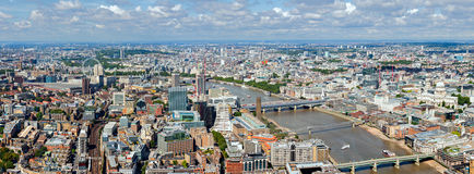River Thames Panorama Royalty Free Stock Photo