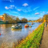 River Thames at Richmond in UK Stock Images
