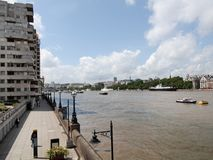 River Thames South Bank, London Stock Photography
