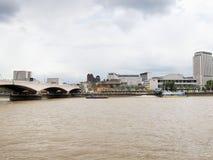 River Thames South Bank, London Stock Photo