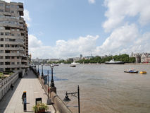River Thames South Bank, London Stock Photos