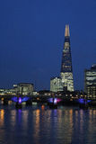 River Thames, Southwark Bridge, The Shard, London Royalty Free Stock Photography