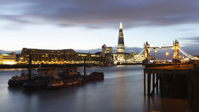 River Thames and Tower Bridge by night Royalty Free Stock Image