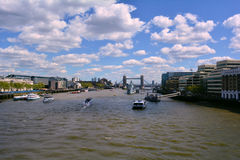 River Thames and Tower Bridge panoramic view, London, United Kingdom Royalty Free Stock Photo