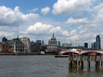 River Thames View Of St Pauls. View of St Pauls from across the River Thames Royalty Free Stock Images