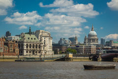 River Thames. View on river Thames and st.Pouls Stock Photos