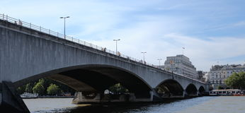 River Thames, Waterloo bridge Stock Images