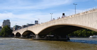 River Thames, Waterloo bridge Royalty Free Stock Image