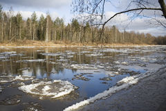 River thaw Stock Photography