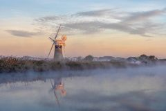 Morning Reflection in the Mist royalty free stock images