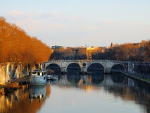 The River Tiber. Famous river in Rome, Italy, photo was taken in February Royalty Free Stock Photo