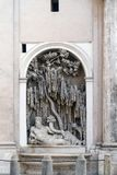 The River Tiber fountain in Rome. Royalty Free Stock Images