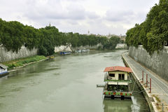 The river Tiber in Rome Royalty Free Stock Photo