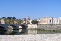 River Tiber in Rome. River Tiber (Fiume Trevi) in Rome, Italy stock image