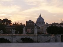 River Tiber in Rome. River Tiber (Fiume Trevi) in Rome, Italy royalty free stock photography