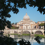 River Tiber, Rome - Italy Stock Image