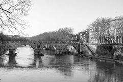 The river Tiber in Rome Royalty Free Stock Images