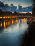 The River Tiber, Rome, Italy Royalty Free Stock Photos