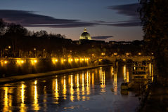 The River Tiber, Rome, Italy Royalty Free Stock Images