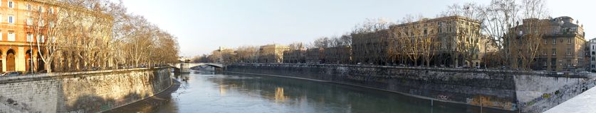 River Tiber in Rome, Italy Royalty Free Stock Photography