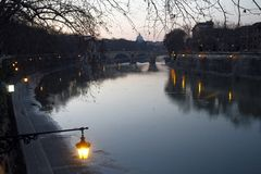 River Tiber in Rome, Italy Royalty Free Stock Photo