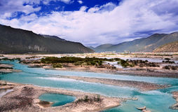 The river in tibet Royalty Free Stock Images