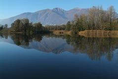 River Ticino at Magadino Royalty Free Stock Image