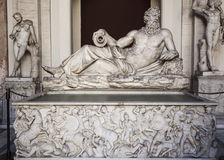 River Tigri God Lying in Vatican Museum Statue - Rome Stock Photos