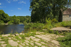 The River Till and ford at Etal Stock Photography