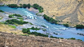 River Time Lapse. V3. Deschutes river time lapse from above using a photo effect stock video footage