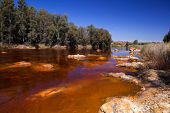 River Tinto by Niebla (Huelva) Royalty Free Stock Photography