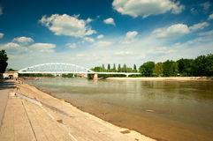 River Tisza in Hungary Stock Photography