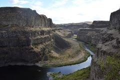River to Palouse Falls Royalty Free Stock Image