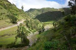 The River Toachi runs through the Ecuadorian Andes. On the Quilotoa Loop hike Stock Images
