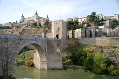 The river of Toledo in Spain Stock Photo