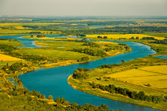 The river, top view Stock Photography