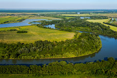 The river, top view Royalty Free Stock Images