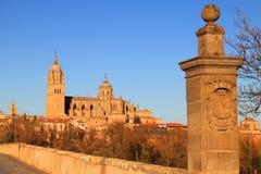 The River Tormes, Salamanca, Spain. Royalty Free Stock Photo