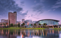 Adelaide City. The River Torrens in the city of Adelaide Royalty Free Stock Image