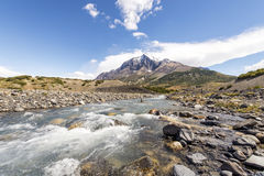 River in Torres del Paine park Royalty Free Stock Images
